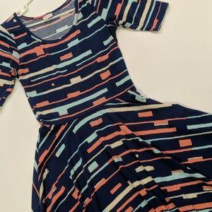 LulaRoe Nicole Dress medium